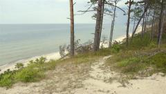 Beautiful dunes on the coast of the Baltic Sea in Poland Stock Footage