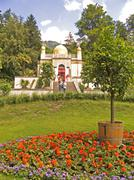 Stock Photo of germany bavaria upper bavaria linderhof park grounds with oriental building b