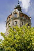 The water tower in the district of favoriten built in 1899 in the architectur Stock Photos