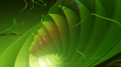 Abstract green background with spherical circles and lines in motion Stock Footage