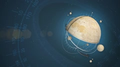 Background with invented orrery Stock Footage