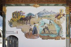 Stock Photo of mural painting at town hall in wallgau - upper bavaria