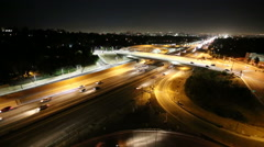 San Diego 405 Freeway Night - West Los Angeles Stock Footage