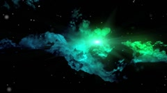 Star shining through nebula Stock Footage