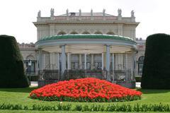 the pavillon of the kursalon hübner in the municipal park vienna austria - stock photo