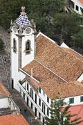 church sao bento in ribeira brava - madeira - stock photo