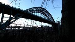 NEWCASTLE UPON TYNE, UK. Tyne Bridge. Stock Footage