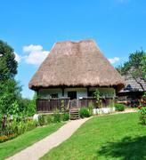 sibiu ethno museum house - stock photo