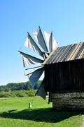 Sibiu ethno museum wind mill Stock Photos