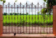 Wrought iron fence Stock Photos