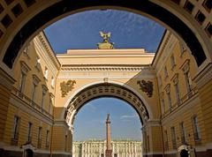 Gus russia st. petersburg 300 years old venice of the north gate from general Stock Photos