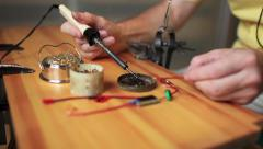 Tinning wires for soldering tin Stock Footage