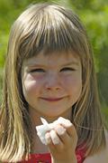 Child with allergy hayfever Stock Photos