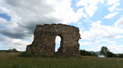 St Margarets Church well preserved ruin Stock Footage