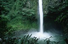 cascada la fortuna near arenal - alajuela - costa rica - stock photo