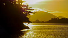 Timelapse, Sunset, Sitka Bay, southeast,  Alaska Stock Footage