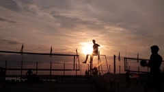 Stock Video Footage volleyball Celestial referee almost god - stock footage