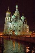white nights, gus russia st petersburg 300 years old venice of the north grib - stock photo