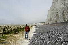 Stock Photo of seven sisters cliffs sussex england