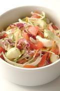 Stock Photo of salad preparation