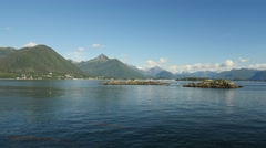 Pan, Sitka Bay, from Talon Lodge, Sitka, Southeast, Alaska - stock footage