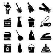Cleaning supplies and tools Stock Illustration