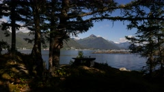 Sitka Bay from talon lodge, sitka, alaska Stock Footage