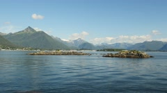 Pan, Sitka Bay, from Talon Lodge, Sitka, Southeast, Alaska Stock Footage
