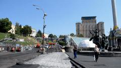 Independence square in Kiev, Ukraine, August 2014. - stock footage