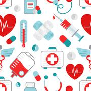 Medicine seamless pattern - stock illustration