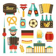 Germany travel set - stock illustration