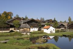 Museum village bavarian forest in tittling germany Stock Photos