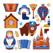 Russia travel set Piirros
