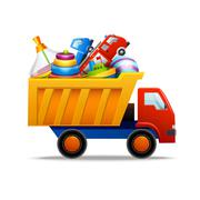 Toys in truck Stock Illustration