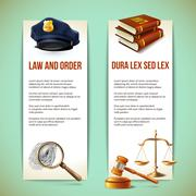 Law vertical banners - stock illustration
