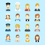 Profession avatar - stock illustration
