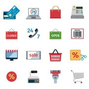 Stock Illustration of E-commerce Icons Set