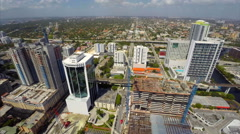 Aerial Brickell City Center 360 view Stock Footage