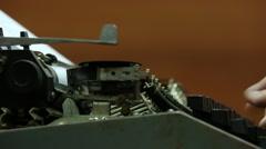 Typewriter side view Stock Footage