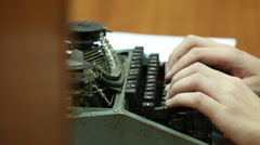 Typewrite edition Stock Footage