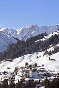 Hirschegg in Kleinwalsertal   Allgauer Alpen   Vorarlberg Austria Stock Photos