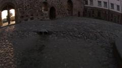 Area of Mir Castle, fisheye Stock Footage