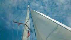 Sail boat bottom view Stock Footage