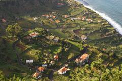 Stock Photo of arco de sao jorge - view from viewpoint cabanas - madeira