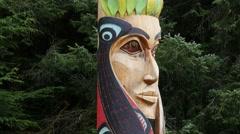 Centennial Pole, totem pole, sitka national historical park, sitka, alaska Stock Footage