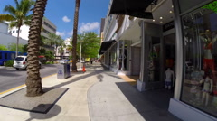 Lincoln Road Miami Beach Stock Footage
