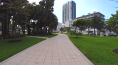 Collins Park Miami Beach Stock Footage