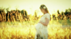 Pregnant woman Stock Footage