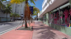 Collins Ave Miami Beach Stock Footage