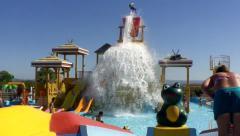 Kids Water Fun Park Stock Footage